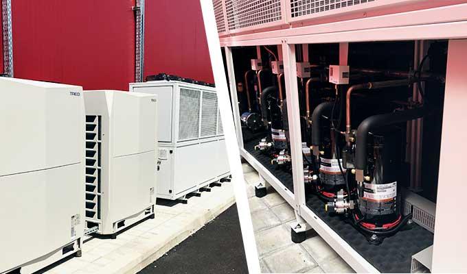 Високоефективни инверторни термопомпени <br><strong>климатични ситеми за отопление и охлаждане</strong>